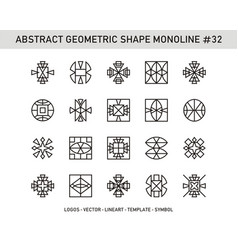 Abstract geometric shape monoline 32 vector