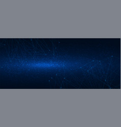 abstract polygonal grid on cosmic background vector image