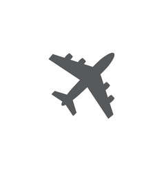 airplane icon on white background vector image