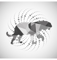 Animal design mosaic icon Isolated vector