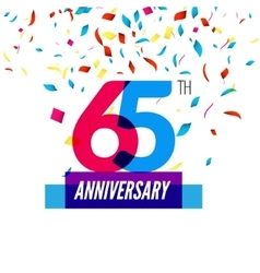 Anniversary design 65th icon anniversary vector image