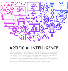 Artificial intelligence line concept vector
