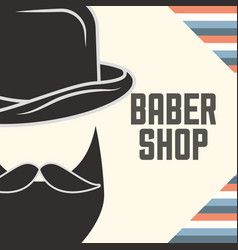 Baber shop design vector