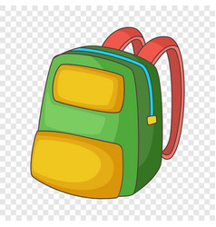 Backpack icon cartoon style vector