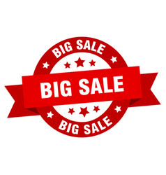 big sale ribbon big sale round red sign big sale vector image