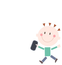 Boy smartphone vector