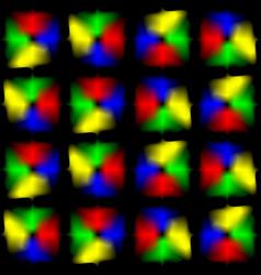 Bright glare on a black background vector