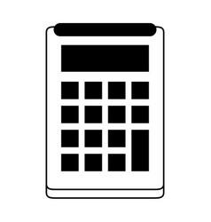 Calculator with blank keys icon image vector