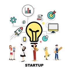 career service with startup concept vector image