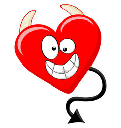 Cartoon Like Of Evil Heart vector image