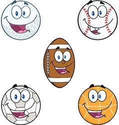 Cartoon sports balls vector