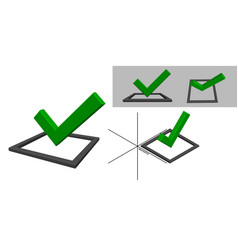 Checkmark icon tick sign isolated on white vector