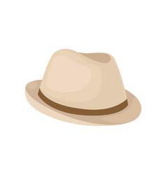 classic beige hat for men on vector image