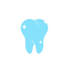 clean tooth dental graphic design element vector image