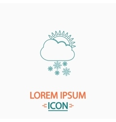 Cloud snow computer symbol vector image