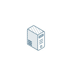 computer system unit bloc isometric icon 3d line vector image