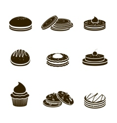 Cookies black set vector