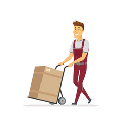 Delivery service - cartoon people characters vector