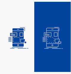 drag mobile design ui ux line and glyph web vector image