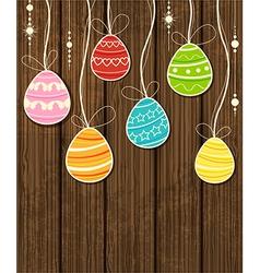 eggs on wood vector image