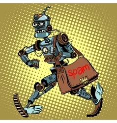 Electronic spam robot postman email vector