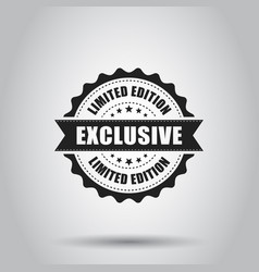 exclusive grunge rubber stamp on white background vector image