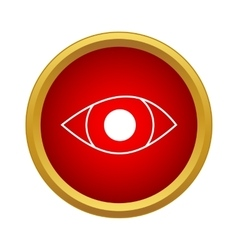 Eye icon in simple style vector