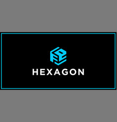 fe hexagon logo design inspiration vector image
