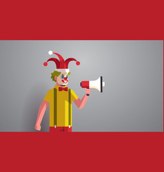 first april fool day man in funny jester hat and vector image