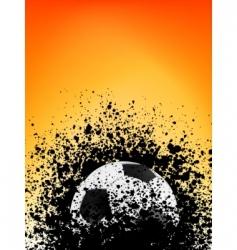 Football grunge poster orange light vector