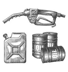 Gasoline logo design template petroleum vector