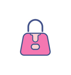 hand bag flat icon sign symbol vector image