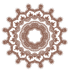 hand drawn sketch of mandala vector image