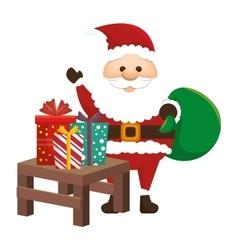 Happy merry christmas santa claus card vector