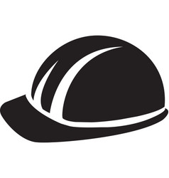 Hard hat builder man black symbol vector