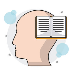 Head human profile book learning vector
