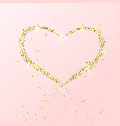 heart flying particles gold vector image