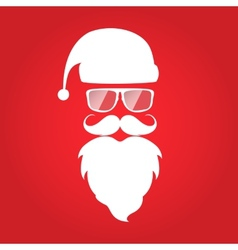 Hipster style Christmas card design Santa Claus vector image