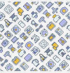 Home appliances seamless pattern vector