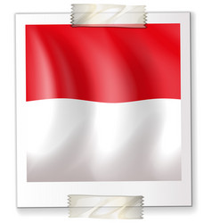 Icon design for flag of indonesia vector