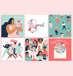 International women s day templates for vector