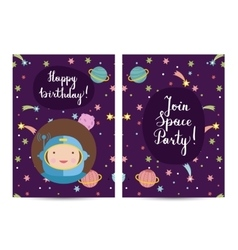 Invitation on Children Costumed Birthday Party vector