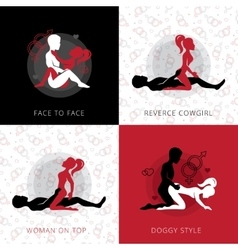 Kama Sutra Love Position Design Concept vector