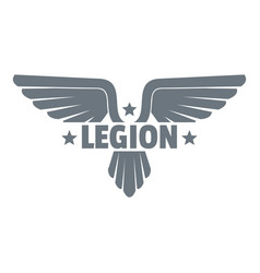 Legion wing logo simple gray style vector
