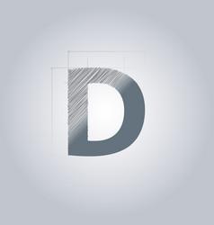 Letter d logo alphabet logotype architectural vector