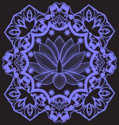 mandala with Indian Lotus beautiful background vector image