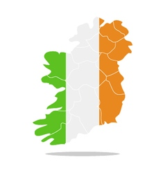 map ireland vector image