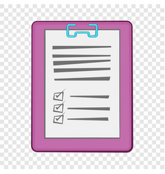 medical report icon cartoon style vector image
