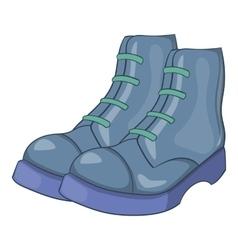 Mens boots icon cartoon style vector