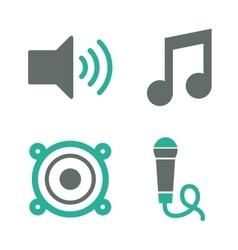 Music speaker equipment and technology vector image